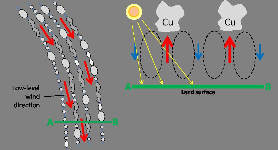 Schematic of horizontal convective rolls (from EUMeTrain)