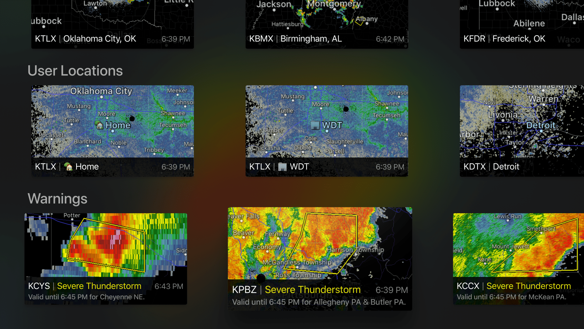 RadarScope Apple TV Maps