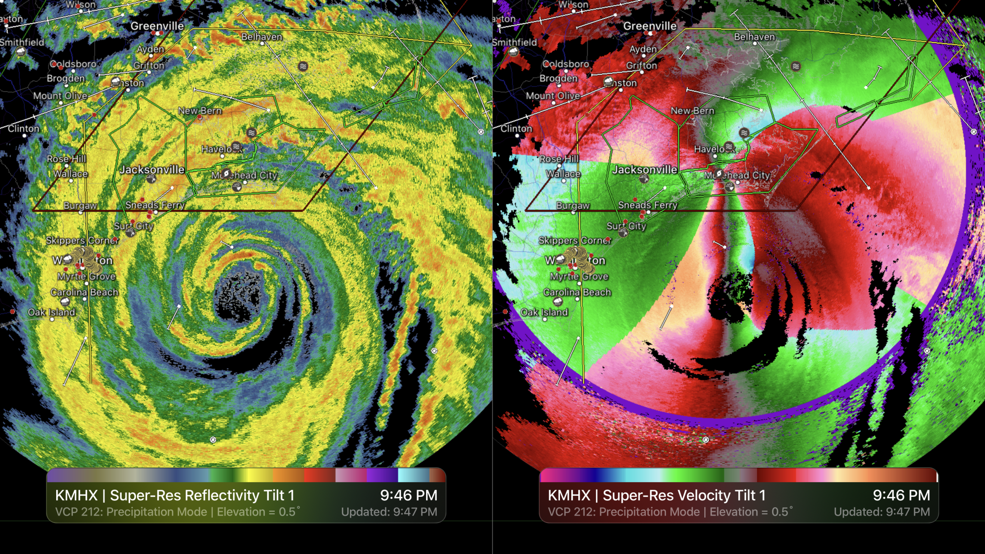 RadarScope Dual Screen on Apple TV