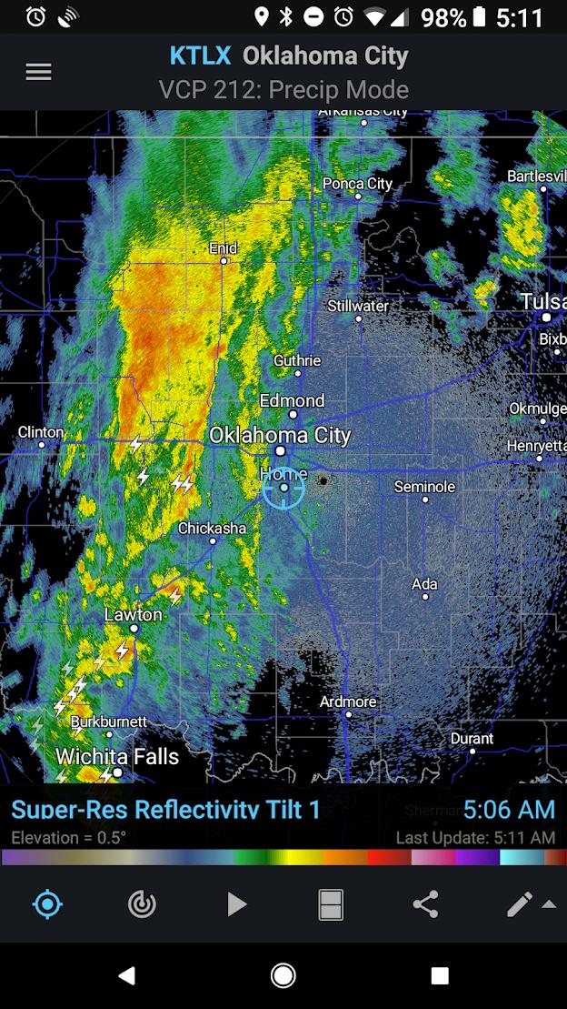 RadarScope with Lightning Data