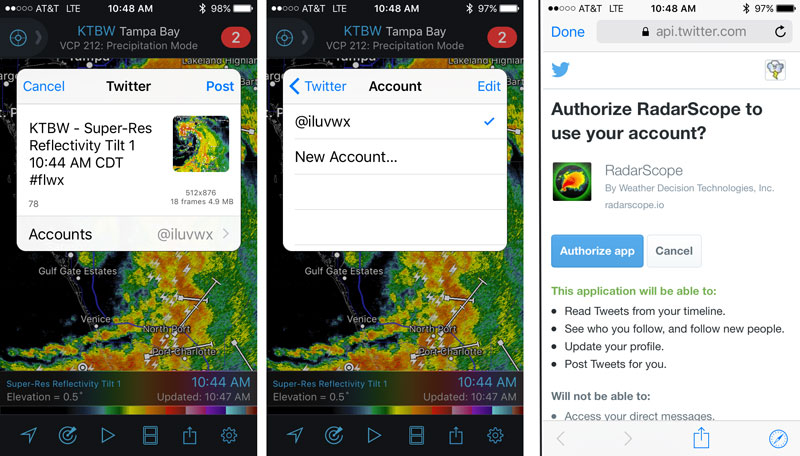 Steps to Authenticate Your RadarScope Account on Twitter