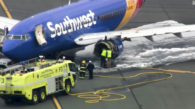 Southwest Airlines Plane After Accident