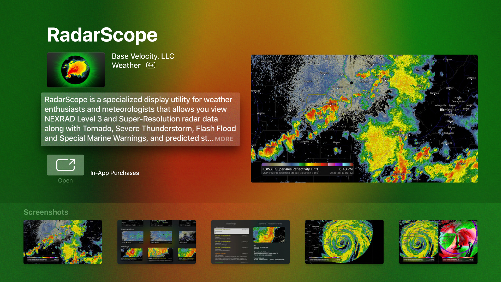 RadarScope for Apple TV