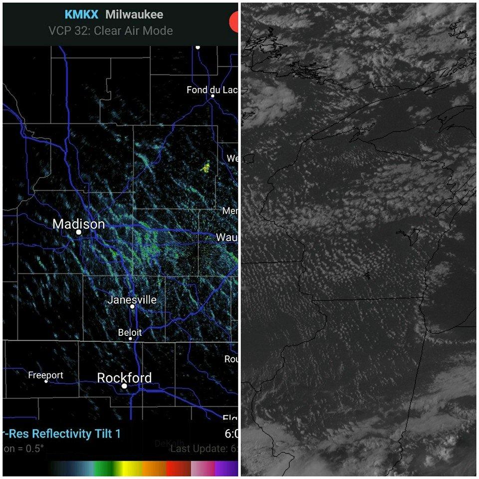 Gravity Wave Radar and Satellite Image