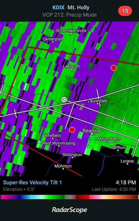 Range Folding on RadarScope